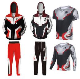 Avengers 4 Endgame the Advanced Tech Impresión en 3D Sudaderas con capucha Sudaderas con cremallera para hombre Abrigo informal Chaqueta Cosplay Traje pantalones / camiseta en venta
