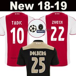Kids jerseys xl online shopping - 18 Ajax soccer jersey TADIC ZIYECH DE JONG DOLBERG HUNTELAAR SCHONE VAN DE BEEK MEN KIDS champions football kit shirt Thailand
