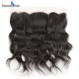 $enCountryForm.capitalKeyWord Australia - Silanda Hair Facotry Price Natural Color Natural Wave 100% Remy Human Hair Lace Frontal Closures 13X4 Ear to Ear Free Part Free Shipping