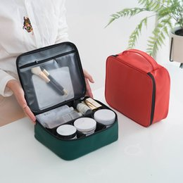 $enCountryForm.capitalKeyWord Australia - Travel Cosmetic Bag Fashion PU Makeup Case Women Zipper Hand Holding Make Up Handbag Organizer Storage Toiletry Women Makeup Bag