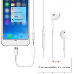 Audio Jack Cord Australia - IOS12.1 Earphone Headphone Jack Adapter Converter Cable Lighting to 3.5mm Audio Aux Connector Adapter Cord for iPhone 7 8 XS