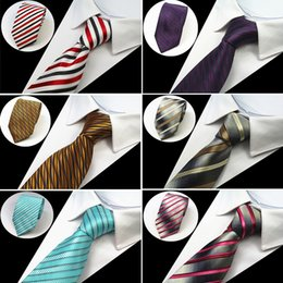 Striped tie yellow online shopping - RBOCOTT Men s Classic Ties cm Necktie Blue Striped Tie Black Floral Neck Tie Yellow Purple Silvery For Business Red Wedding