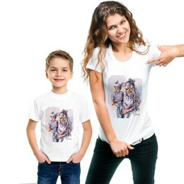 $enCountryForm.capitalKeyWord Australia - Mother Son Outfits Cute Love Design Short Sleeve Family T shirt
