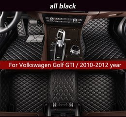 full golf sets NZ - For Volkswagen Golf GTI   2010-2012 year Car Interior Foot Mat Non-slip Environmental Protection Tasteless Non-toxic Floor Mat