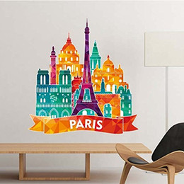 $enCountryForm.capitalKeyWord NZ - Castle Paris France Landmark National Flag Architecture Custom Landscape Illustration Pattern Wall Sticker