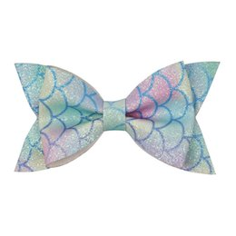 Chinese  New DIY Mermaid girls hair clips glisten baby BB clips princess hair bows kids Barrettes designer hair accessories for girls Hairclips A5641 manufacturers