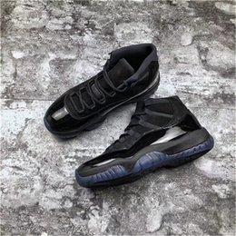 $enCountryForm.capitalKeyWord Australia - 2019 New Cap And Gown 11 Prom Night Blackout 11S Men Basketball Shoes Authentic Real Carbon Fiber Sports Sneakers With Box 378037-005
