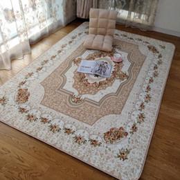 Wholesale tea rooms online – design Honlaker x230CM Large European Rose Carpets for Living Room Decorative Tea Table Carpet Floor Rugs