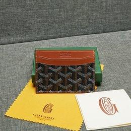 Wholesale Goyarrd Goyar Card Holder leather Top quality cowhide credit card holder mini wallet box