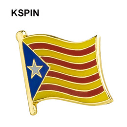 Badge flag online shopping - Catalan Badges Flag Badge Flag Lapal Pin On Backpack Pins For Clothes XY0178
