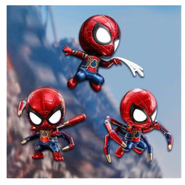New Spiderman Figures Australia - New Hot 10cm PVC Avengers Iron Spiderman Super Hero Spider -Man Action Figure Toys Model Doll Collection Christmas Gift With Box