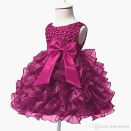 $enCountryForm.capitalKeyWord UK - 2019 New Ball Gown Organza Girls Pageant Dresses Cheap Flower Girl Dresses For Wedding Princess Prom Party Dresses For Birthday Baby Girl