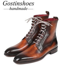 $enCountryForm.capitalKeyWord Australia - GOSTINSHOES HANDMADE Goodyear Welted Luxury Work Safty Military Motorcyle Army Winter Snow Daily Wear Men's Boots Brown SCT41