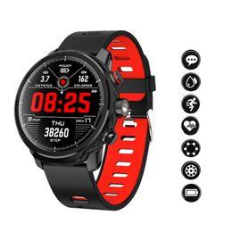 $enCountryForm.capitalKeyWord Australia - Color screen smart bracelet dynamic heart rate monitoring 1.3 inch full circle touch screen LED lighting sports Smart Men watch