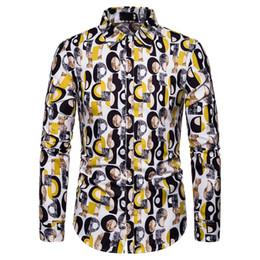 $enCountryForm.capitalKeyWord Australia - Fashion Spring Autumn Casual Men Shirt Slim Fit Flower Print Shirt Long-sleeved Shirts Male Floral Social Masculina S-XXL Camisa