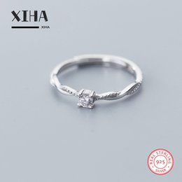 ladies infinity ring UK - Fashion Statement Infinity Rings for Women 925 Sterling Silver Cubic Zirconia Adjustable Ring Engagement Ladies Wedding Band