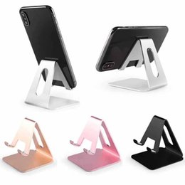 $enCountryForm.capitalKeyWord Australia - Wholesale Universal Aluminum Metal Cell Phone Tablets PC Desk Stand Holder Support Bracket for iPhone for Samsung with retail package