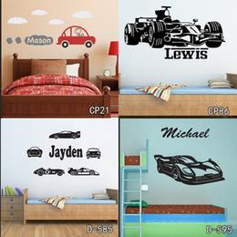 $enCountryForm.capitalKeyWord Australia - Personized Race Car Wall Stickers Home Decor DIY Poster Decals Kids Room Nursery Mural Vinyl Customized Name Tractor Car for Boy