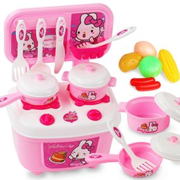 girls kitchen play set Australia - Children play toy kitchen boys and girls aged 3-7-10 years cooking cooking utensils and tableware set toys for children. SH190907