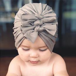 $enCountryForm.capitalKeyWord Australia - Autumn Winter Infant Baby Girls Hat Knot Headwear Child Toddler Kids Beanies Turban Hats Children Accessories 18Colors 15184
