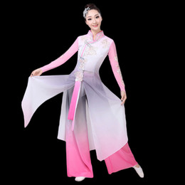 56761d5a0 High Quality 2019 Elegant Chinese Classical Dance Costumes Female Wind  Fresh Elegant Yangko Fan Dance Clothes Clothes