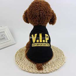 Cheap Wedding Vests Australia - New Summer Dog Clothes Apparel Cat Vest Small Sweater Pet supply Cartoon Clothing Cotton t shirt For Puppy Chihuahua Cheap Jumpsuit Outfit