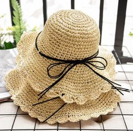 $enCountryForm.capitalKeyWord Australia - 2019 new hot sale comfortable Korean version of the parent-child sunshade female summer bow straw hat sunscreen beach sun hat