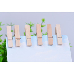 $enCountryForm.capitalKeyWord Australia - 20 PCS box Hot sale Small Mine Size 25mm Mini Natural Wooden Clips For Photo Clips Clothespin Craft Decoration Pegs