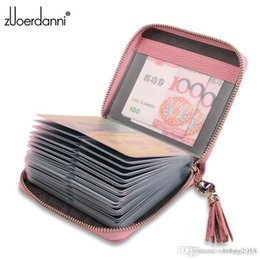 hot trunks for men NZ - Top Quality Men Wallets fashion hot sale Man letter real leather mini card holder for women with box 143abc 13