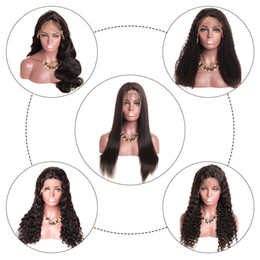 Discount long curly hair styles for women - Full Lace Human Hair Wigs All Style Straight Body Wave Deep Wave Kinky Curly Water Wave Human Hair Wigs For Black Women