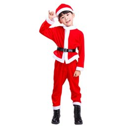 $enCountryForm.capitalKeyWord UK - 3pcs Christmas Children Sets Christmas Costume Santa Claus Suit for Boys Male Costumes Children's Clothing