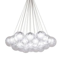 $enCountryForm.capitalKeyWord NZ - Modern Metal LED Pendant Lights 1 3 7 13 19 Heads Clear Glass Ball Lampshade Hanglamp 110-220V E27 Bedroom pendant lamp