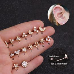 $enCountryForm.capitalKeyWord Australia - Sellsets 20g 0.8mm Small Tragus Cartilage Stud Cz Flower Moon Star Tiny Helix Piercing Jewelry Rook Conch Screw Back Earring