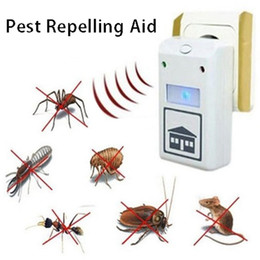 electronic spider repeller UK - Electronic Ultrasonic Pest Reject Pest Repelling Aid Pest Control Household Spiders Rats Mice Animal Repeller Mouse Trap DBC BH3655