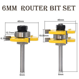 $enCountryForm.capitalKeyWord NZ - Tongue and Groove Milling Cutter 6mm Router Bit Set Woodworking Tool Engraving Carving Trimming CNC End Mill
