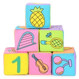 $enCountryForm.capitalKeyWord Australia - Infant Baby Kids 7cm Cloth Building Blocks Educational Rattles Set Toys