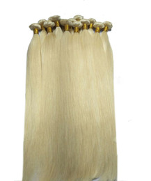 $enCountryForm.capitalKeyWord NZ - New Year Hot sale Straight Wave Hair Weaves Double Wefts 100g pc 613 Russian Blonde Color Can be Dyed Human Remy Hair Extensions, Free DHL
