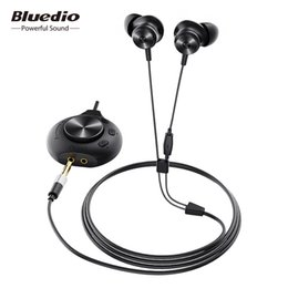 bluetooth earphones wire NZ - heap Phone Earphones & Headphones Bluedio Li Pro wired earphone 7.1 virtual sound card HIFI stereo headset built-in microphone magnetic h...