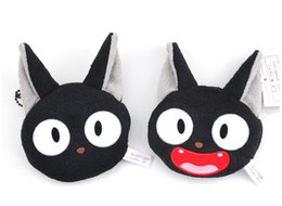 tv cartoon cat Australia - Plush Purse Black Cat JIJI Creative Mini Cartoon Animals Stuffed Soft Kiki's Delivery Service KIKI Coin Money Purse Handbag Toys