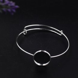 $enCountryForm.capitalKeyWord NZ - 65MM Fit 20MM Cabochon Metal silver wire bangle jewelry simple silver bracelet for women fashion handmade bangle wristband girl