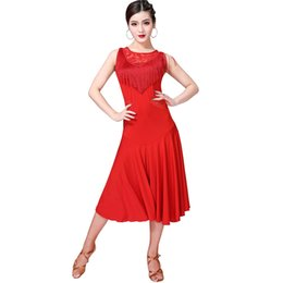 $enCountryForm.capitalKeyWord UK - Women Girl Latin Dance Dress 5 Colors Fringe Clothes Cha Cha Salsa Rumba Competition Wear Tango Costume