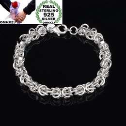 925 silver dragon chain NZ - OMHXZJ Wholesale Personality Fashion Unisex Gift Silver Dragon Head Chain 925 Sterling Silver Bracelet+Necklace Jewelry Set SE38