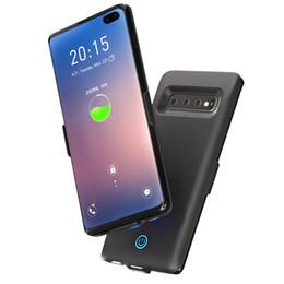 4efedb18657 Funda con cargador de batería superior para Samsung Galaxy S10 Plus Funda  6000mAh Banco de energía de respaldo externo Cargador de batería con funda