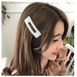 $enCountryForm.capitalKeyWord NZ - Wholesale 2019 INS Style Full pearls Hair Clips for Women Kids Fashion Korean Style Hairpins Alloy BB Hairgrip Girls Hair Jewelry Gifts