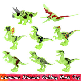 Glow Party Decorations Australia - Luminous Dinosaur Toys for Children Glow in the Dark Building Blocks Educational Toy Gift Home Decoration Party Favors