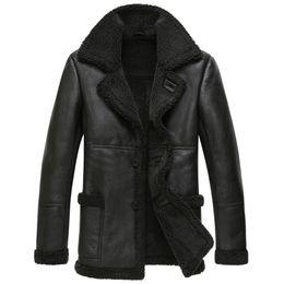 Black sheep jacket online shopping - Real Sheep Shearling Fur Coat Winter Jacket Men Wool Coat Streetwear Mens Jackets and Coats Jaqueta Couro YY477