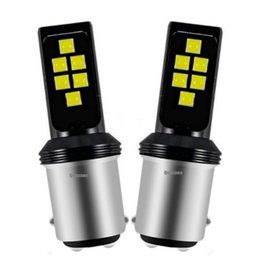 car daytime cree UK - 2Pcs 1157 BAY15D P21 5W Cree Chips LED Car Brake Light Tail Lamp Auto Turn Signal Bulbs Daytime Running Lights Rear Fog Bulb
