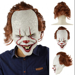 clown hair NZ - Horror! Halloween Scary Clown Mask Long Hair Ghost Scary Mask Props Grudge Ghost Hedging Zombie Realistic Latex Masks