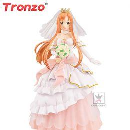$enCountryForm.capitalKeyWord Australia - Original BANPRESTO EXQ Anime Sword Art Online Asuna Wedding PVC Action Figure Model SAO Yuuki Asuna Figurine Doll Toys