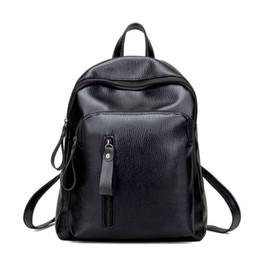 Chinese  Fashion Women Backpacks Bags Handbags Women Famous Brands Popular Girl Folds Soft Pu Leather Black Shoulder Bag Female School Bags manufacturers
